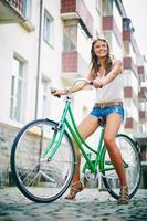ciclista bonita foto