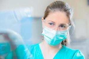retrato de odontologia foto
