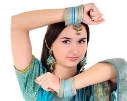 retrato de mulher indiana foto