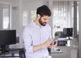 retrato do jovem empresário foto