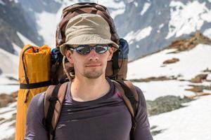 alpinista de perto foto
