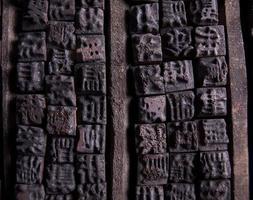 casos de letras chinesas em madeira foto