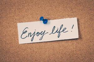 Aproveite a vida foto