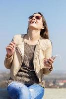 desfrutando de música
