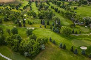 antena de campo de golfe foto