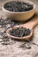 folhas de chá seco