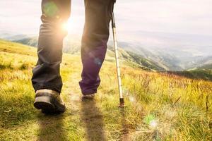 caminhadas na montanha. foto