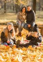 andar parque outono foto