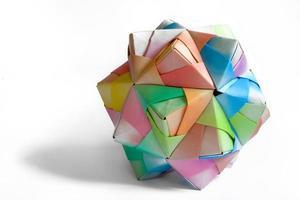 polígono de origami foto