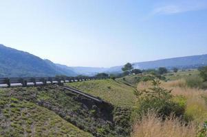 estrada através da serra madre montanhas de jalisco foto