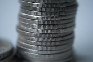 pilha de moedas foto