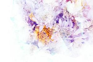ilustração em aquarela de flores.