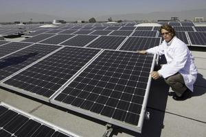 painéis de energia solar foto