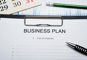 negócios ainda vida com plano de negócios foto