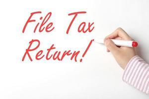 declaração de imposto de arquivo foto