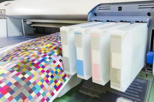 impressora a jato de tinta de grande formato foto