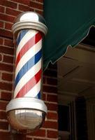 poste de barbeiro foto