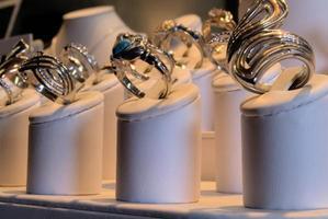 exibição da loja de jóias foto