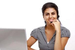 representante de atendimento ao cliente on-line de negócios foto