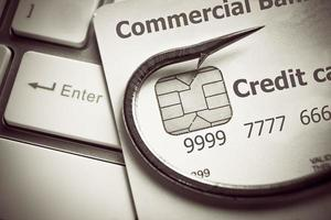 phishing de cartão de crédito foto