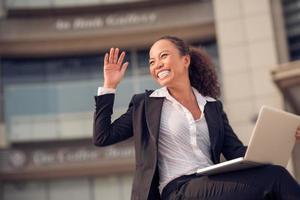 mulher de negócios animado foto