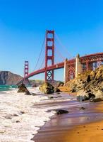 são francisco ponte golden gate marshall beach califórnia foto