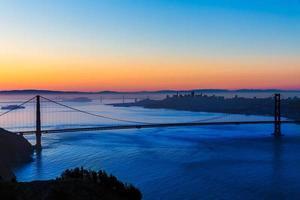 ponte golden gate são francisco nascer do sol califórnia foto