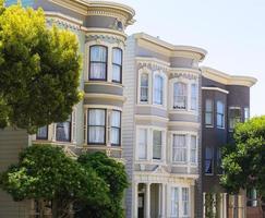 casas vitorianas de são francisco em pacific heights califórnia foto