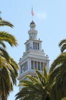 torre do relógio do edifício de balsa de são francisco foto