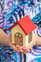 pequena casa na mão