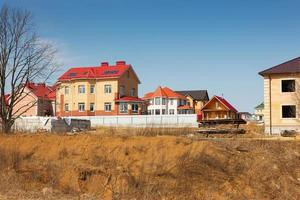 vila de chalé em construção foto