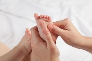 massagem bebê