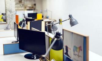 interior do escritório vazio foto