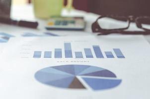 gráfico de negócios foto