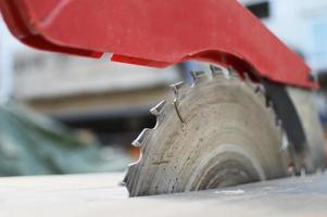 ferramenta de lâmina de serra de mesa foto