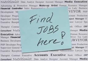 encontre empregos aqui foto