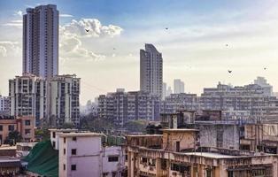 skyline de mumbai, índia foto