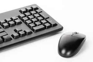 teclado e mouse de computador foto