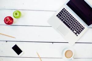 mesa de freelancer foto
