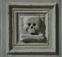 detalhe do crânio, chiesa del purgatorio