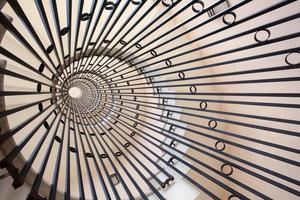 vista de uma escada em espiral