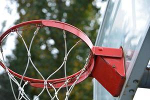 objetivo de basquete do parque da cidade foto