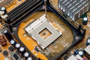 placa-mãe do computador close-up