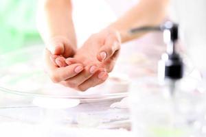 lembre-se de lavar as mãos foto