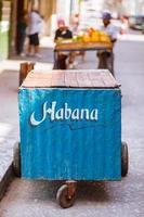 banca de frutas habana (havana) em cuba foto