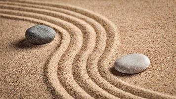 jardim de pedra zen japonês foto