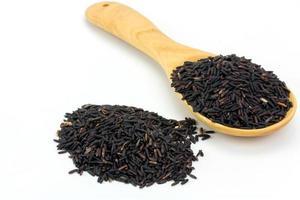 colher de arroz de bagas, close-up foto