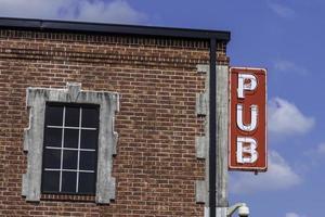 sinal de pub foto