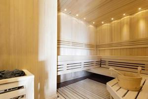 interior de uma sauna
