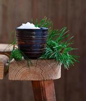 sal marinho com aroma de coníferas